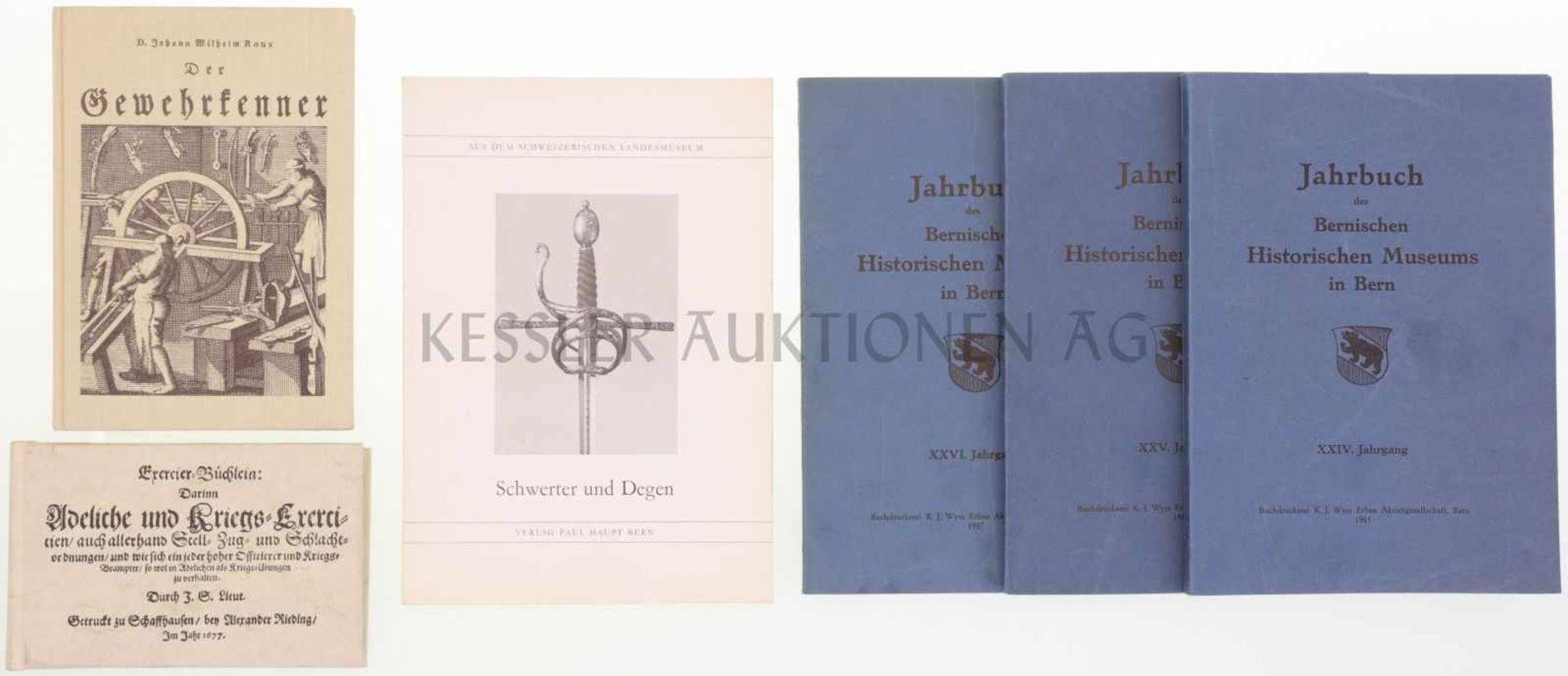 Los 8 - Konvolut 6 Bücher 1. Exercier-Büchlein, gedruckt zu Schaffhausen 1677, Nachdruck Nr. 836, Verlag