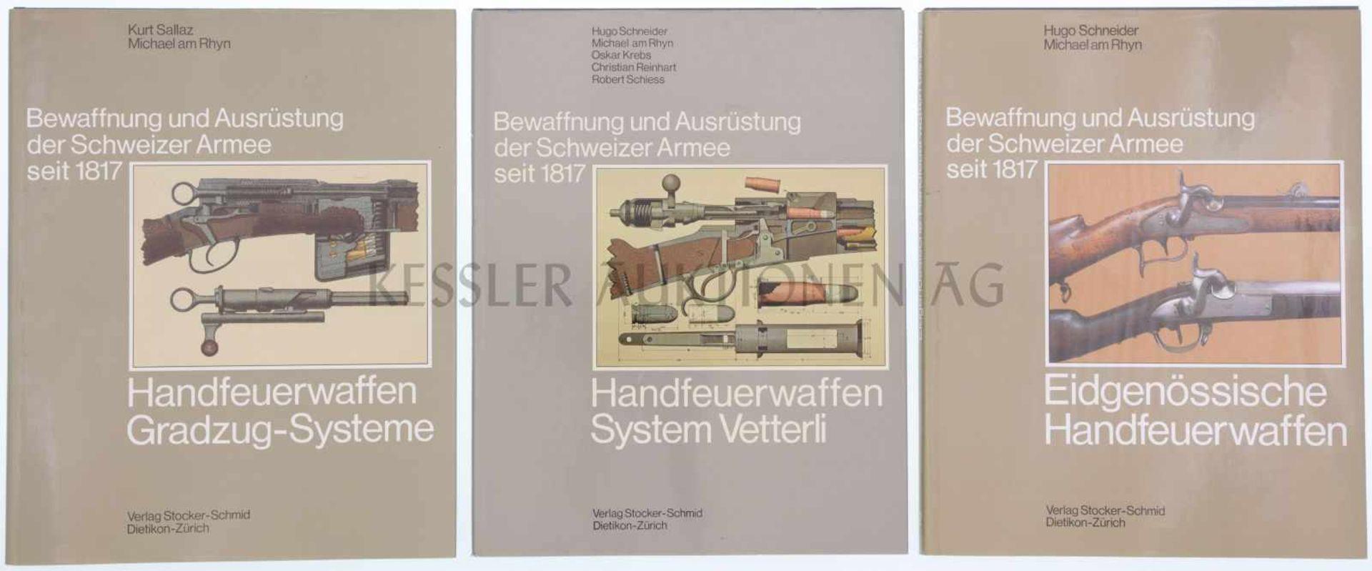 Konvolut von 3 Bänden, Bewaffnung und Ausrüstung der Schweizer Armee 2: Eidgenössische