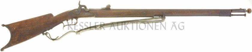 "Feldstutzer 1851, Perkussionszündung, Kal. 10.4mm Zürcher Schlag ""ZZ897."", Nussholzschaft,"