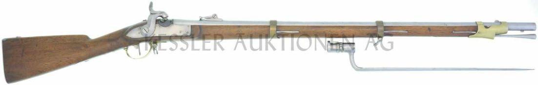 Perkussionsgewehr, Kt. St. Gallen, Beuret Frères, Liége, Parkartillerie/Genie 1842/59, Kal. 18mm