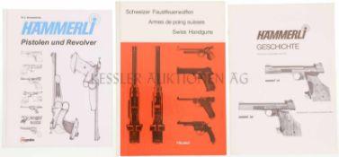 Konvolut 2 Bücher und 1 Heft 1. Hämmerli Pistolen und Revolver, Autor N.U. Schweinfurth, Verlag VS