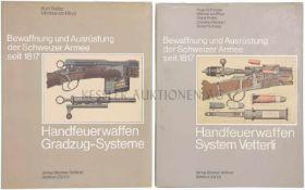Konvolut von zwei Büchern, Bewaffnung und Ausrüstung der Schweizer Armee seit 1817 1. Band 3,