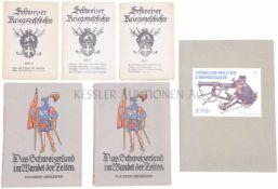 Konvolut 6 Bücher 1. Schweizer Kriegsgeschichte, Heft 7, Verlag Oberkriegskommissariat (