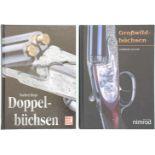 Konvolut 2 Bücher 1. Grosswildbüchsen, 2. Auflage, 230 Seiten mit 188 Abbildungen. Autor Norbert