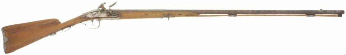 Steinschlossflinte Frankreich, Kal. 16mm LL 940mm, TL 1360mm, Lauf mit kantiger Wurzel, eisernes
