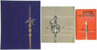 Konvolut von 3 Büchern Blankwaffen 1. Europäische Hieb- und Stichwaffen, aus der Sammlung des