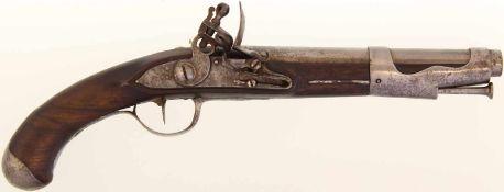 "Steinschlosspistole, F-Ord. ""Pistolet D'Officier de Dragons Mle 1767"", 17.6mm Keine"