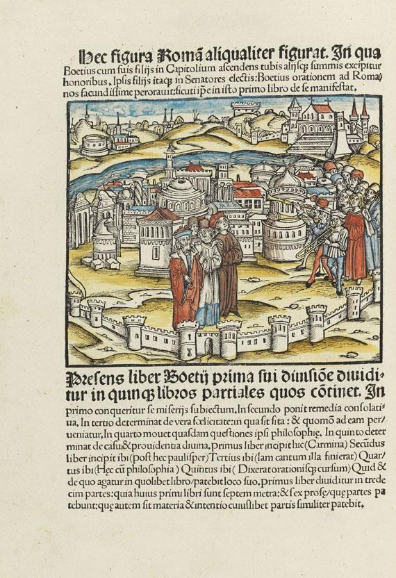 Lot 12 - Anicius Manlius Severinus Boethius De philosophico consolatu sive de consolatione philosophiae cum