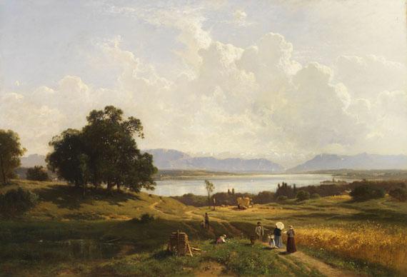 Lot 16 - Adolf Heinrich Lier 1826 Herrnhut - 1882 Wahren/Südtirol Der Starnberger See von Pöcking aus