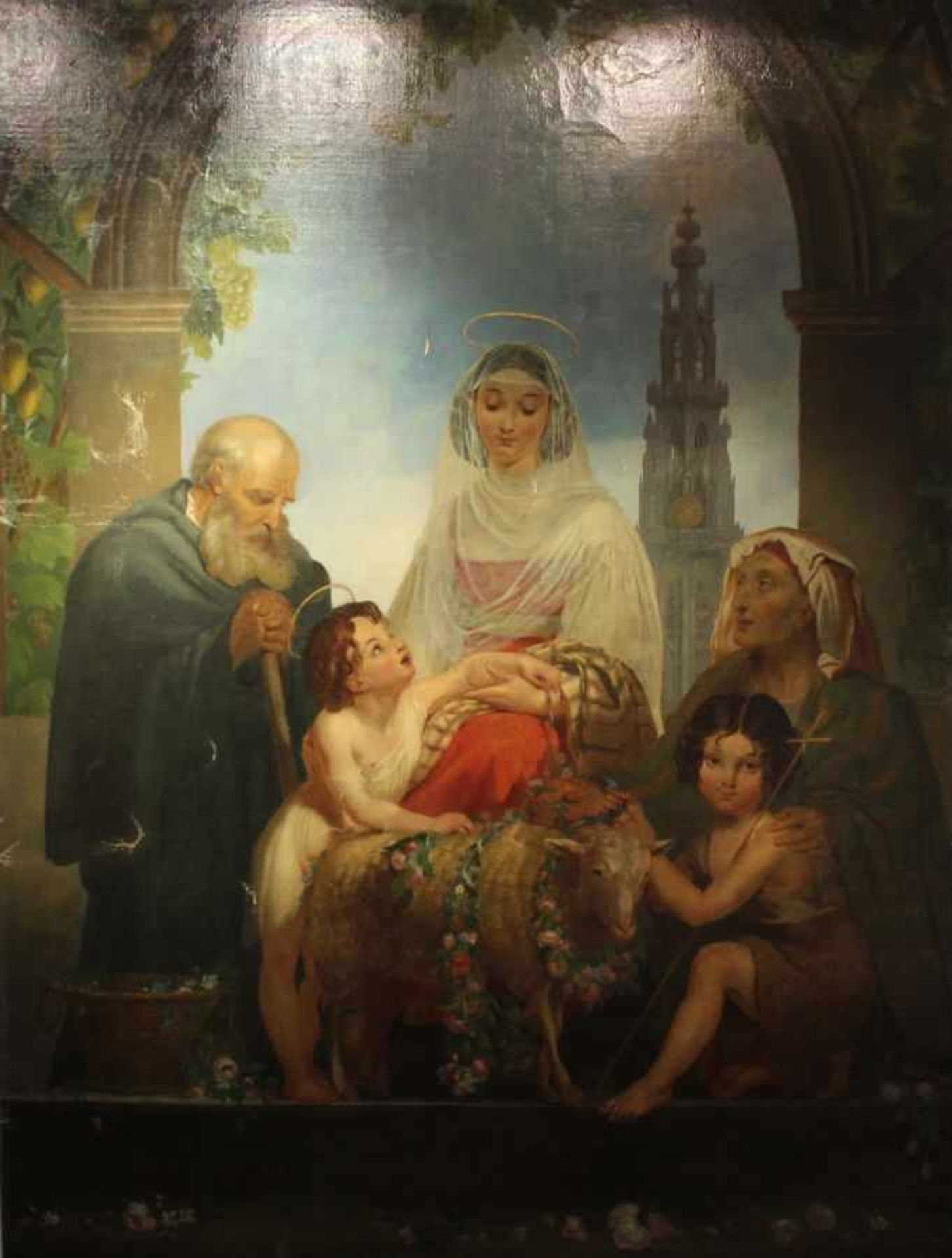 Los 26 - Großes Gemälde - Philippe-Jacques VAN BREE (1786 Antwerpen -1871 Saint-Josse-ten-Noode bei