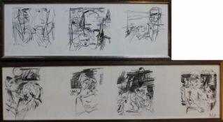 """Offset Lithographien - Rupert Preissl (1925 Eitlbrunn bei Regensburg - 2003) """"Verschiedene"""