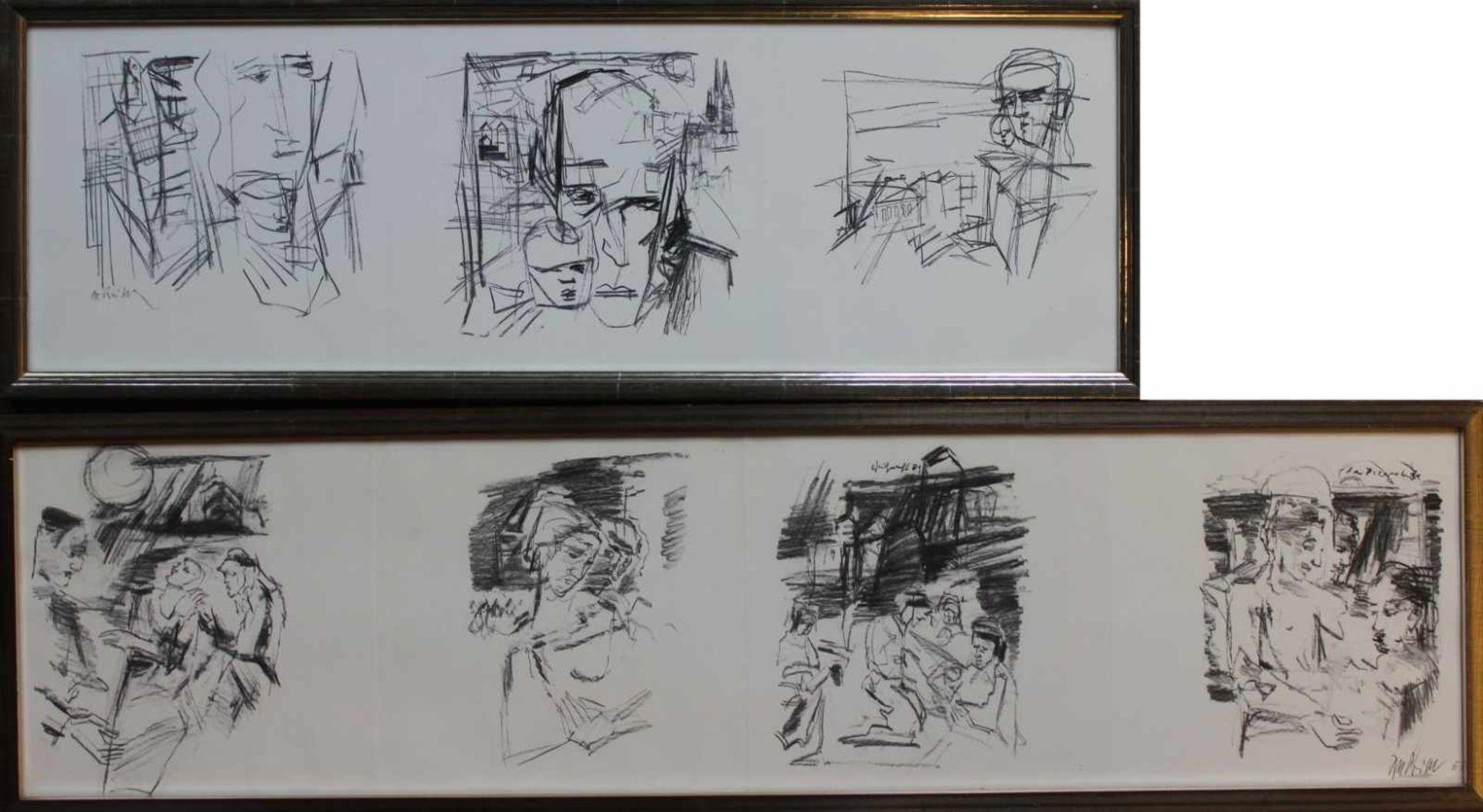 "Los 14 - Offset Lithographien - Rupert Preissl (1925 Eitlbrunn bei Regensburg - 2003) ""Verschiedene"