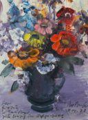 "Gemälde - Rupert Preissl (1925 Eitlbrunn bei Regensburg - 2003) ""Blumenstillleben"", r.u. signiert"