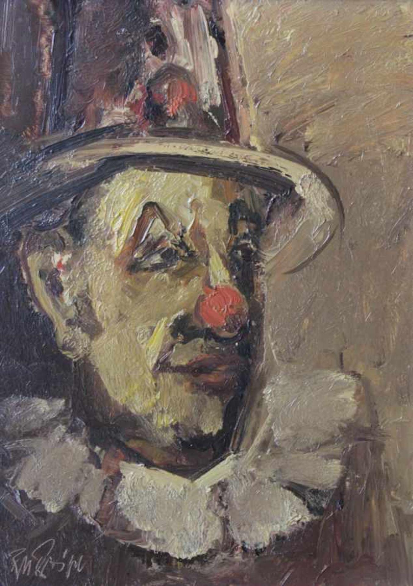 "Los 4 - Gemälde - Rupert Preissl (1925 Eitlbrunn bei Regensburg - 2003) ""Clown"", l.u. signiert, Öl auf"