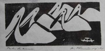 "Holzschnitt - Heinz Theuerjahr (1913 - 1991) ""Pelikane"", r.u. Bleistiftsignatur, Plattenmaße ca."