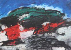 """Gemälde - Hans Peter Agner (München 1933-1989) """"Moderne Landschaft"""", l.u. signiert, datiert 70, Öl"""