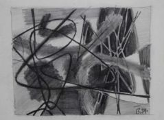 """Zeichnung - Karl Friedrich Brust (1897 Frankfurt am Main - 1960 München) """"Abstrakte Komposition"""","""