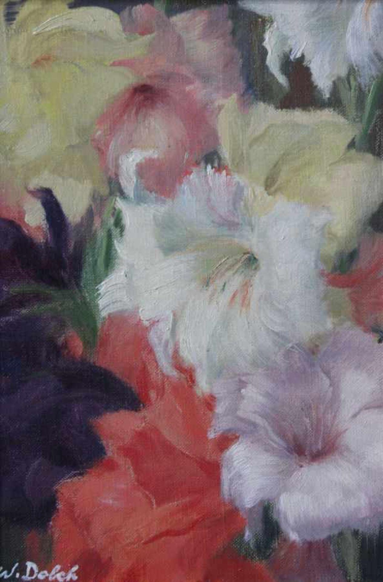 """Los 33 - Gemälde - Prof. Walter Dolch (1894 München - 1970 Konstanz) """" Blumen """", l.u. signiert, Öl auf"""