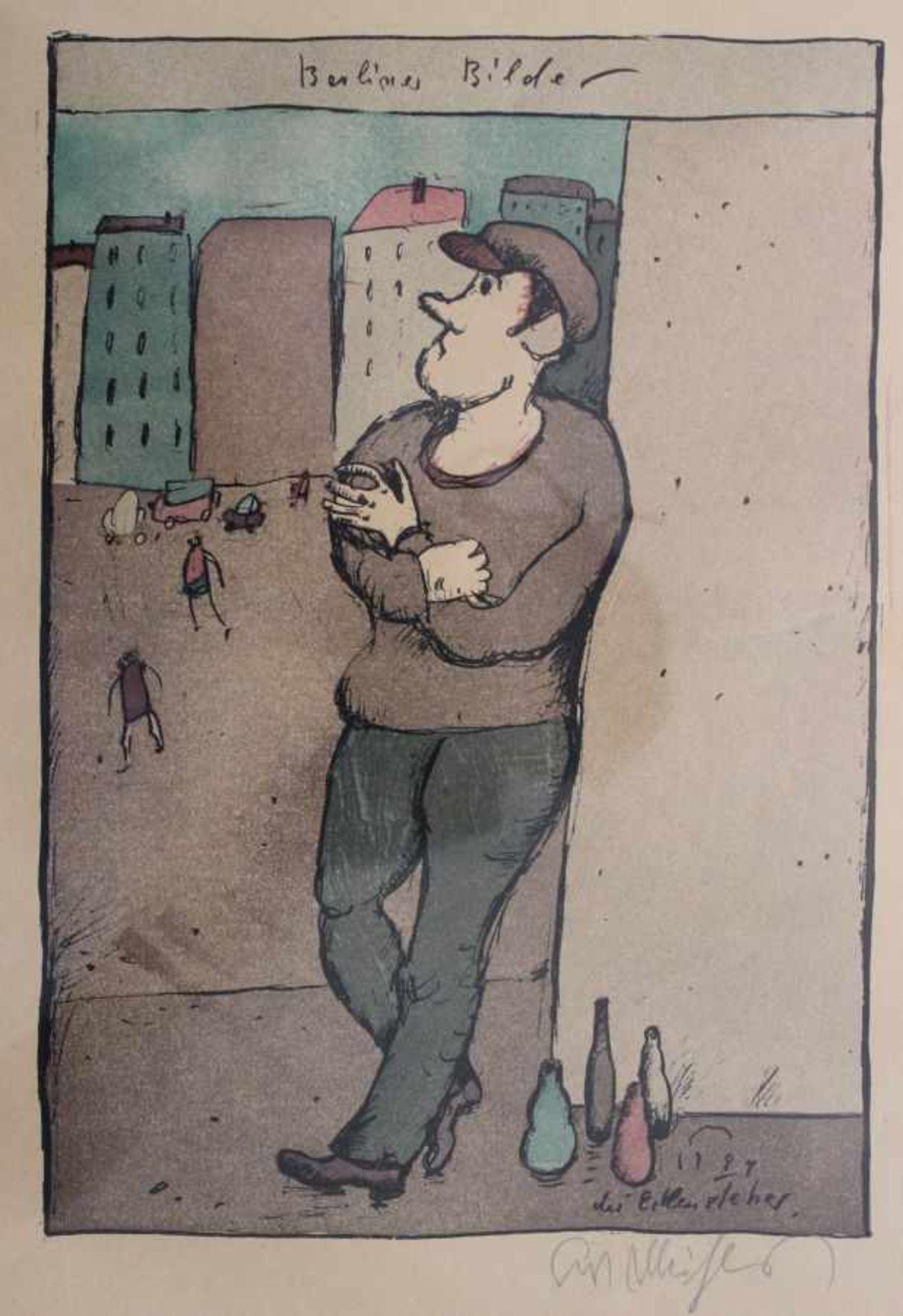 """Los 54 - Lithographie - Kurt Mühlenhaupt (1921 Klein Ziescht - 2001 Bergsdorf) """"Berliner Bilder - der"""