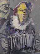 "Gemälde - Rupert Preissl (1925 Eitlbrunn bei Regensburg - 2003) ""Clown"", r.u. signiert, Öl auf"