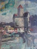 "Gemälde - Rupert Preissl (1925 Eitlbrunn bei Regensburg - 2003) ""Falkenberg / Oberpfalz"", l.u."