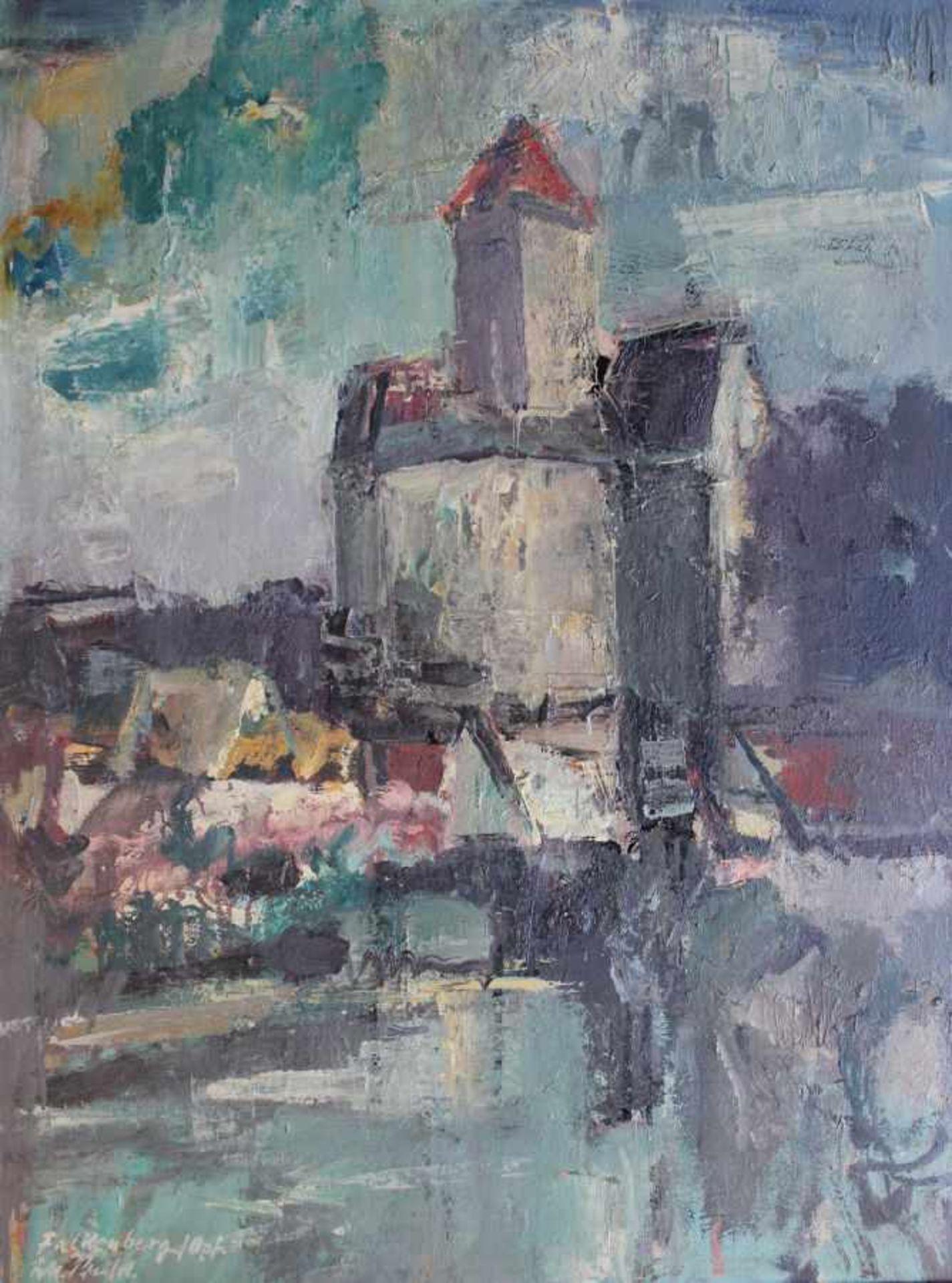 "Los 9 - Gemälde - Rupert Preissl (1925 Eitlbrunn bei Regensburg - 2003) ""Falkenberg / Oberpfalz"", l.u."