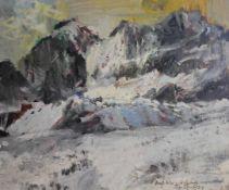 "Gemälde - Rupert Preissl, (1925 Eitlbrunn bei Regensburg - 2003) ""Winterlandschaft"", r.u. signiert"