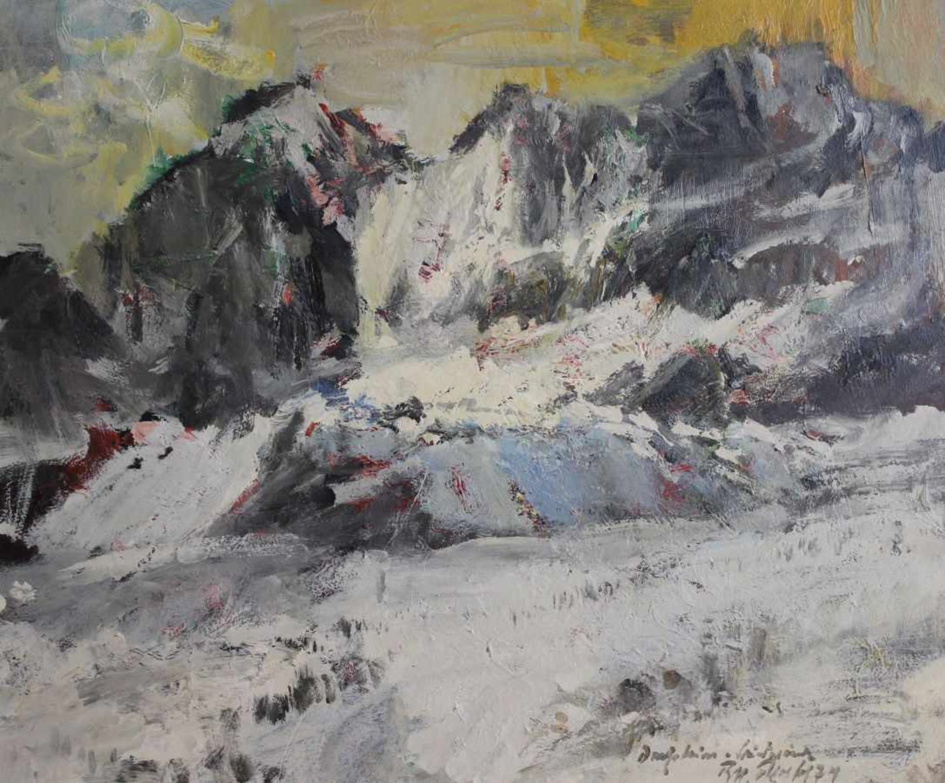 "Los 10 - Gemälde - Rupert Preissl, (1925 Eitlbrunn bei Regensburg - 2003) ""Winterlandschaft"", r.u. signiert"