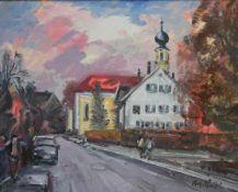 "Gemälde - Rupert Preissl (1925 Eitlbrunn bei Regensburg - 2003) ""Köfering bei Regensburg"", r.u."