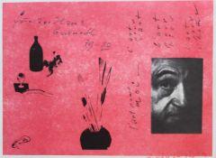"Farbgrafik - Josef Oberberger (1905 Regensburg - 1994 Kreuth) ""l'art pour ..."", r.u. signiert,"