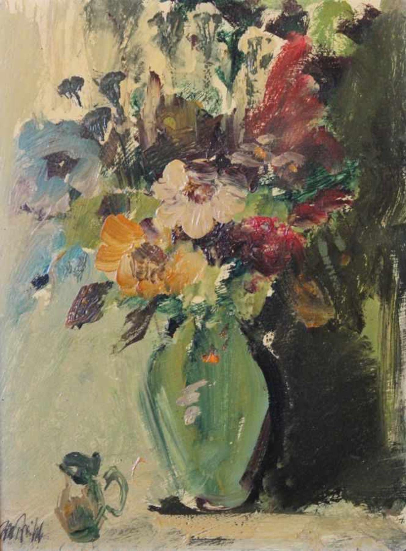 """Los 6 - Gemälde - Rupert Preissl (1925 Eitlbrunn bei Regensburg - 2003) """"Blumenstillleben"""", r.u. signiert,"""