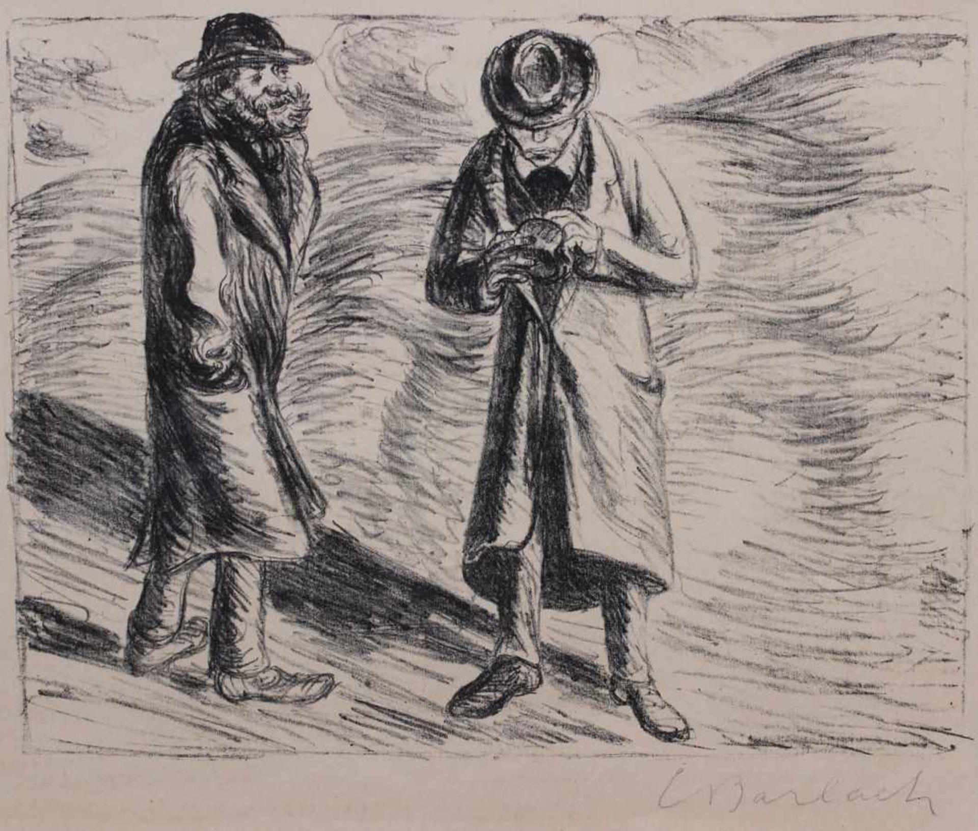 "Los 58 - Lithographie - Ernst Barlach (1870 Wedel - 1938 Rostock) ""Ungleiches Paar 1 - Der arme Vetter"", r.u."