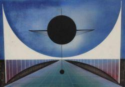 """Gemälde - Werner Brenneisen (1927 Hannover 2005) """"Pendel"""", rückseitig signiert W. Brenneisen"""