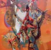 "Gemälde - Willi Ulfig (1910 Breslau - 4.2.1983 Regensburg) ""Abstrakte Komposition"", r.u. signiert"