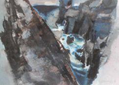 "Aquarell - Willi Ulfig (1910 Breslau - 1983 Regensburg) ""Schwarze Klippe"", r.u. signiert, datiert"