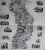 """Mappe - Verlag Joseph Manz Regensburg, um 1860 """"Donaupanorama von der Einmündung des Ludwig - Kanals"""