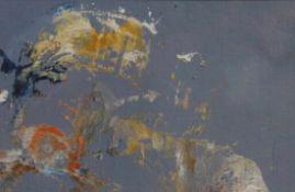 """Mischtechnik - Michael Knogler (1955 München) """"Abstrakte Komposition"""", rückseitig signiert,"""