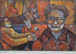 "Farbholzschnitt - Esteban Fekete (1924 Cinkota Budapest - 2009 Dieburg) ""Ohne Titel"", r.u."