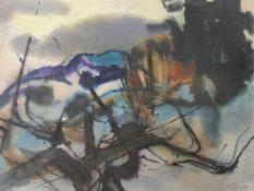 """Aquarell - Willi Ulfig (1910 Breslau - 4.2.1983 Regensburg) """"Winterlandschaft im bayerischen"""