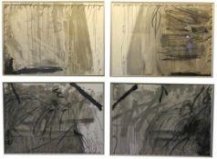 """Serie von 4 Lithographien - Antoni Tapies (1923 Barcelona - 2012) """"Ohne Titel"""", 1967, 1 Blatt"""