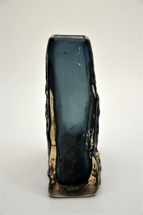 Geoffrey Baxter for Whitefriars, an Indigo glass Pyramid vase - Image 2 of 5