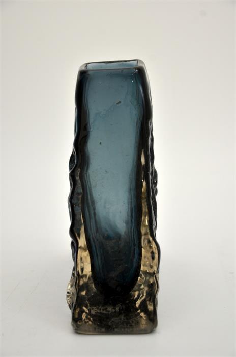 Geoffrey Baxter for Whitefriars, an Indigo glass Pyramid vase - Image 4 of 5