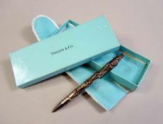 Tiffany & Co., Kugelschreiber Sterling Silber, seitlich signiert und punziert. In originaler