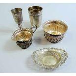 Sammlung, Kleinsilber Silber 800, Sterling Silber, 84 zolotniki und Silber plated. Sammlung