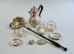 Sammlung, Silberteile Silber 800, 12-Lot, teils mit Halbmond und Krone und unterschiedlichen