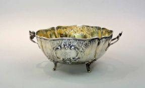 Runde Knödelschüssel Silber 800, am Boden mit Feingehaltsstempel, Halbmond und Krone sowie