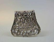 Seltene Speisezange Silber 800, am Rand mit Feingehaltsstempel, Halbmond und Krone sowie
