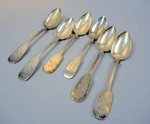 Suppenlöffel-Konvolut Silber 800, jeweils mit Feingehaltsstempel, Halbmond und Krone sowie