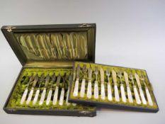 Obstbesteck für 12 Personen Silber 800, einzeln mit Feingehaltstempel, Halbmond und Krone sowie