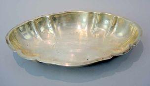 Schwere Silber-Anbietschale Sterling Silber 925, undeutliche Punzierung: wohl Halbmond und Krone